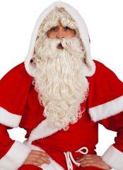Nikolaus Weihnachtsmann Nikolausbart Santa Claus Set natur