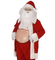 Buckel aufblasbarer dicker Bauch  für Hexe, Buckliger, Weihnachtsmann
