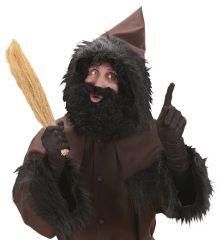 Knecht Ruprecht Bart und Perücke Krampus schwarzer Piet