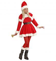 Nikoläusin Weihnachtsfrau Frau vom Weihnachtsmann Miss Santa 5 teilig