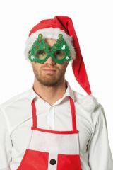 Tannenbaumbrille + Licht Nikolaus Weihnachtsmann auffallendes Zubehör
