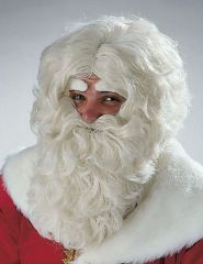 Nikolaus Weihnachtsmann Bart Perücke Augenbrauen im Set