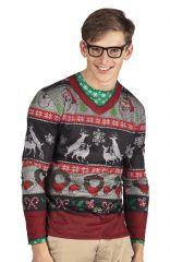 Nikolaus Weihnachten Fotorealistisches Shirt Christmas Partyshirt