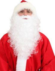 Weißer langer Bart Nikolausbart Weihnachtsmann Santa Klaus