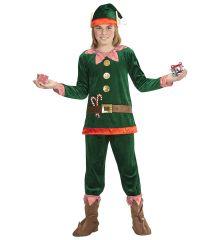 Weihnachtselfe Elf Santa Claus Komplettkostüm für Kinder Weihnachten