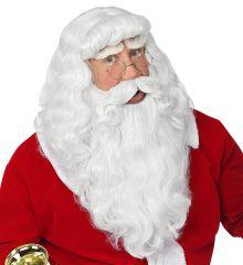 Nikolaus Weihnachtsman-Set Perücke Bart Augenbrauen Santa Claus