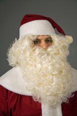 2 tlg. Nikolaus-Set Bart Perücke Nikolausbart Perücke Weihnachtsmann