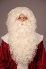 Nikolausbart Weihnachtsmannbart weißblond langer Rauschebart