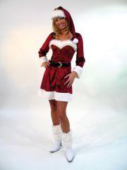 Weihnachtsfrau Nikolaus elegantes Kostüm