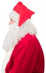 Nikolaus Weihnachtsmann Bart Mütze mit Haaren und Bart Set