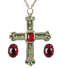 Bischof Kardinal König Schmuck-Set Bischofsring Kreuzkette