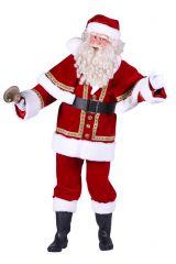 Weihnachtsmann Samt Deluxe mit Umhang Rot Jacke Hose Mütze Gürtel Anzug
