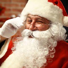 Nikolaus-Set Bart Perücke Nikolausbart Perücke Weihnachtsmann Santa