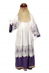 Sankt Nikolaus Bischof Unterkleid weiß violett
