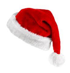 Nikoausmütze Weihnachtsmütze Plüsch mit Bommel