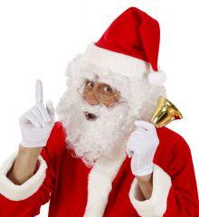 Weihnachtsmann Nikolaus Perücke, Bart, Augenbrauen und Brille im Set