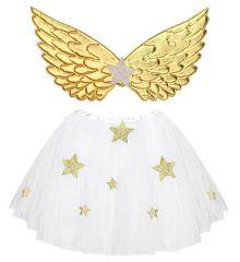 Kinder Engel Engelkostüm Christkind mit Engelsflügel
