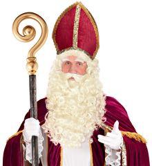 Nikolaus Weihnachtsmann Bart und Perücke im Set Santa Claus